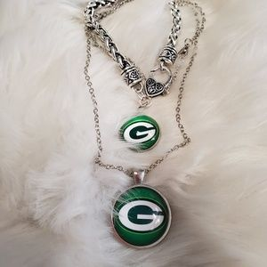 GreenBay Packers Necklace and Bracelet set